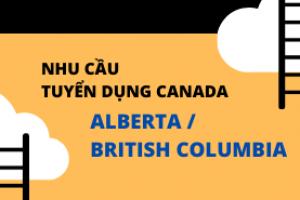 NHU CẦU TUYỂN DỤNG CANADA ALBERTA / BRITISH COLUMBIA