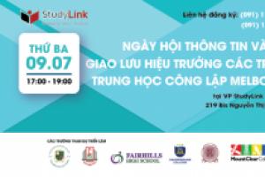NGÀY HỘI THÔNG TIN & GIAO LƯU HIỆU TRƯỞNG CÁC TRƯỜNG TRUNG HỌC MELBOURNE 09.07.2019