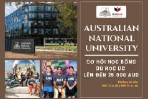 AUSTRALIAN NATIONAL UNIVERSITY – CƠ HỘI HỌC BỔNG DU HỌC ÚC LÊN ĐẾN 25.000 AUD