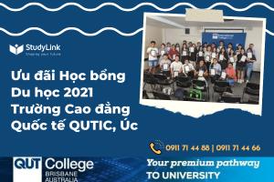 ƯU ĐÃI HỌC BỔNG DU HỌC 2021 - TRƯỜNG CAO ĐẲNG QUỐC TẾ QUTIC, ÚC