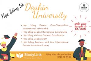 Tìm kiếm cơ hội học bổng của trường đại học Deakin (Úc) năm học 2021 lên đến 100%