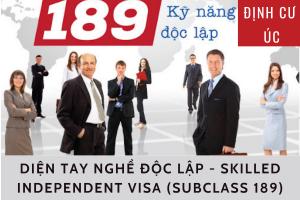 ĐỊNH CƯ ÚC: DIỆN TAY NGHỀ ĐỘC LẬP - SKILLED INDEPENDENT VISA (SUBCLASS 189)